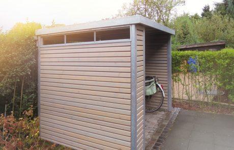 Fahrradschuppen mit Dachbegrünung